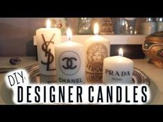 ♡♡♡♡♡♡ OPEN FOR MORE INFO ♡♡♡♡♡♡♡♡ Hiii! This is a quick little video I made on how to make these designer logo candles! I got a ton of questions on my insta...