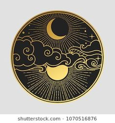 Decorative graphic design element in oriental style. V… Decorative graphic design element in oriental style. Doodle Drawing, Drawing Hands, Moon Drawing, Inspiration Art, Art Inspo, Design Elements, Design Art, Moon Design, Circle Design