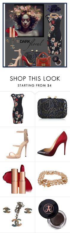 """jasinta-3378"" by jasintasss ❤ liked on Polyvore featuring KOTUR, Chanel, Giuseppe Zanotti, Christian Louboutin and Anastasia Beverly Hills"