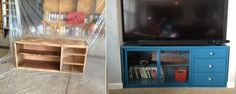 My Before and after TV cabinet redo.
