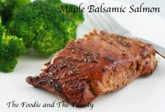 Maple Balsamic Salmon from Fast Paleo