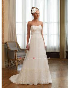 -D beautiful wedding dress Strapless Lace Wedding Dress 68c22acfc485