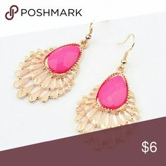 "New Pink Gold Peacock Dangle Hook Fashion Earrings New. Color : Pink/Gold. Metal: Alloy. Earring Length: 2 .5"" inches. Item#: E017 Jewelry Earrings"
