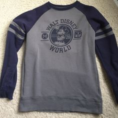 Disney sweatshirt Grey and blue vintage looking sweatshirt! Boys extra large. Tops Sweatshirts & Hoodies