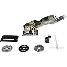 Rockwell Versacut 4.0 Amp Ultra-Compact Circular Saw with Laser Indicator and 3-Blade Kit with Carry Case - RK3440K