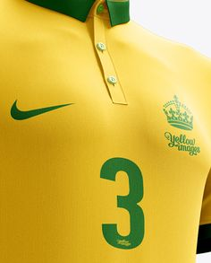 Men's Full Soccer Kit with Polo Shirt Mockup (Hero Shot). Preview (Close-Up)