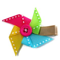 Pinwheel Hair Clip by Magnificence on Etsy