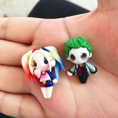 The Joker and Harley Quinn DC Comics Suicide Squad Batman polymer clay Keychain