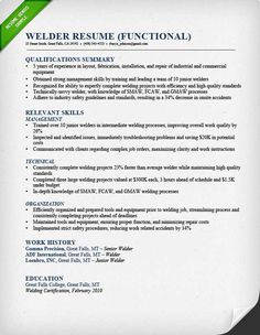 Welder Resume Construction Labor Resume Sample  Money Management  Pinterest