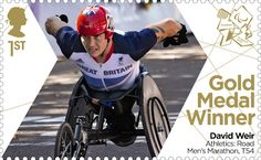 In Pictures: A gallery of some more special stamps issued by Royal Mail for each British Paralympic gold medallist at London David Weir, Marathon Posters, Royal Mail Stamps, Gold Medal Winners, Team Gb, Penny Black, Stamp Collecting, Olympic Games, Great Britain