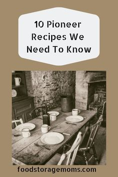 As I see the price of groceries continue to rise, I also see the need to know how to cook these 10 pioneer recipes. Let's cook with less now! Ramen Recipes, Vegetarian Recipes Dinner, Old Recipes, Vintage Recipes, Beef Recipes, Cooking Recipes, Dinner Recipes, Depression Era Recipes