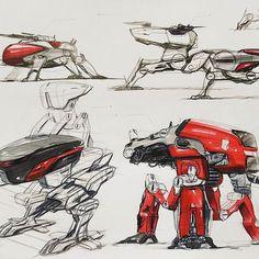 Military robot…