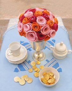 sweet serendipity design: Felt Flower Bouquet