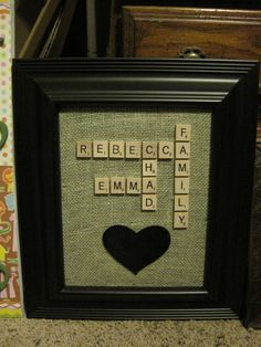 Scrabble craft!