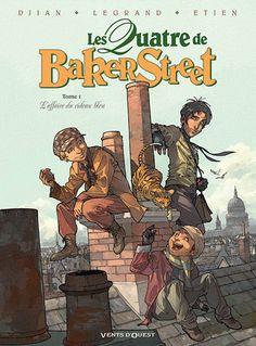Les Quatre de Baker Street Tome 1 L'affaire du rideau bleu - Jean-Blaise Djian,Olivier Legrand,David Etien