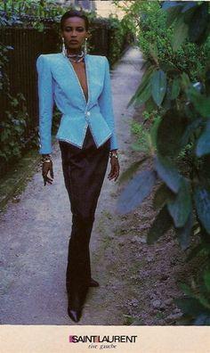 1985 - Yves St. Laurent Rive Gauche ad - by Helmut Newton