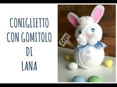 Come fare un SEMPLICISSIMO CONIGLIO con un gomitolo di lana (Pasqua/Riciclo Creativo) Arte per Te - YouTube