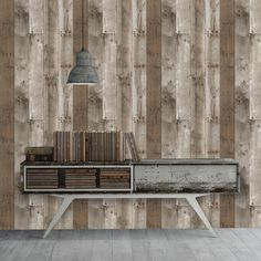 Tempaper 56 sq. ft. Repurposed Wood Self-Adhesive, Removable Wallpaper - Weathered-RE504 - The Home Depot