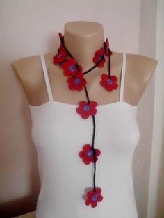Crochet lariat scarf crochet accessories crochet by crochetmart, $7.00