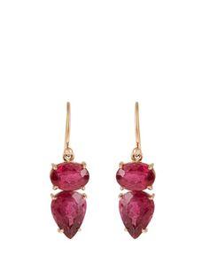 IRENE NEUWIRTH Tourmaline & rose-gold earrings