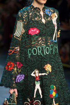 Dolce & Gabbana à Milan Fashion Week printemps 2016 - d'une manière vivante