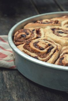 Cinnamon-Almond Butter Buns with Bittersweet Chocolate | The Gouda Life