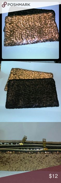 Sequin Clutch Sequin Clutch with Gold Hardware and Satin Leopard Interior. Perfect for Clutch, IPad/Kindle Carrier, Travel Makeup Bag and whatever your stylish mind can think of. Bags Clutches & Wristlets