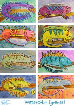kids-Iguana-art-lesson