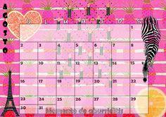 Calendario mensual #2015 - #Agosto