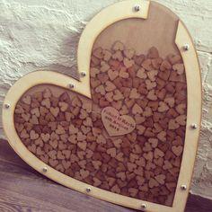 Creative Wedding Guest Book - Handmade Wooden Heart Dropbox - Eleturtle