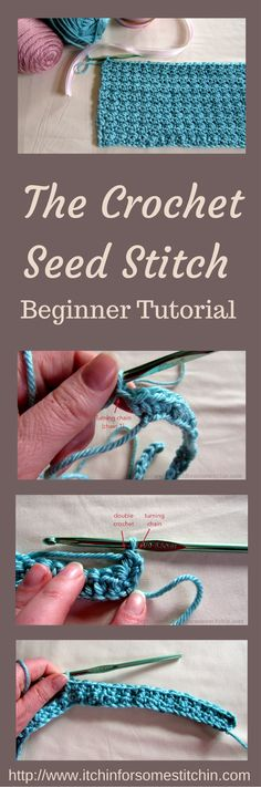 The crochet seed stitch is a simple stitch that's perfect for beginners. It creates a beautiful texture that's great for crocheting bags, sweaters, & more!
