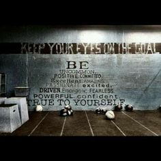 CrossFit motivation Totally would love to paint this on the wall at my gym.