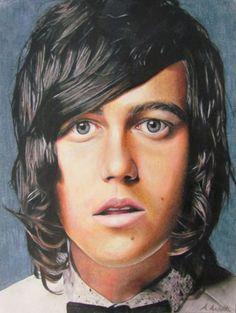 amandaarlottaart:  Coloured pencil drawing of Kellin Quinn