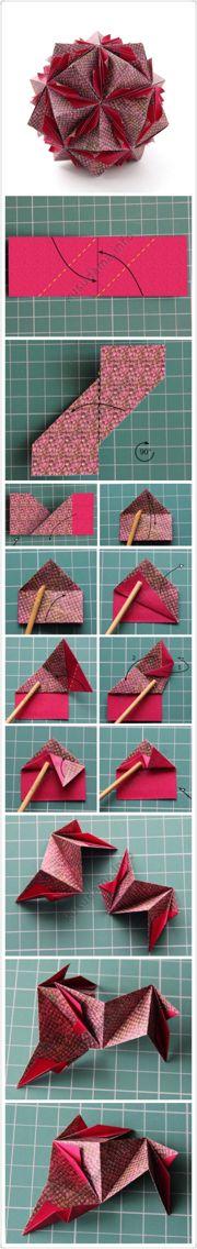 【Surfing Kusudama 】3.75*11.25(1:3),30张 Origami Cube, Origami And Kirigami, Origami Ball, Modular Origami, Origami Stars, Diy Origami, Origami Paper, Oragami, Origami Instructions