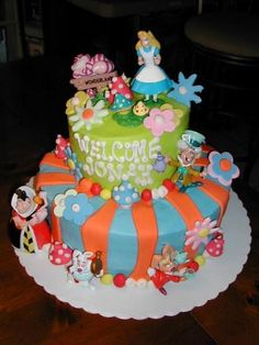 Alice Madhatter Baby Shower Cake