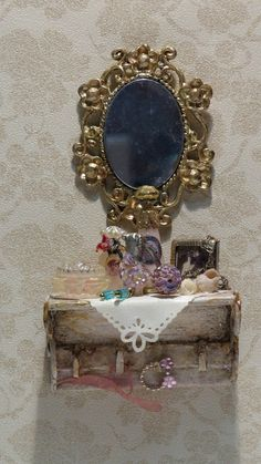 Victorian Shabby Shelf 1/12 Scale by StudioEMinis on Etsy