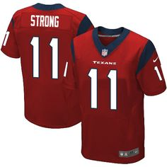 Nike Elite Jaelen Strong Red Men's Jersey - Houston Texans #11 NFL Alternate