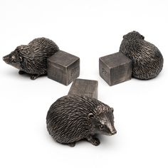 Antique Bronze Hedgehog Pot Feet (Set of 3)