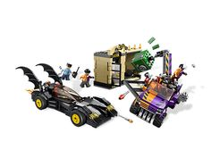 Lego DC Universe Super Heroes  The Batmobile and the Two-Face Chase  Foil the bank raid and send Two-Face home without a penny!