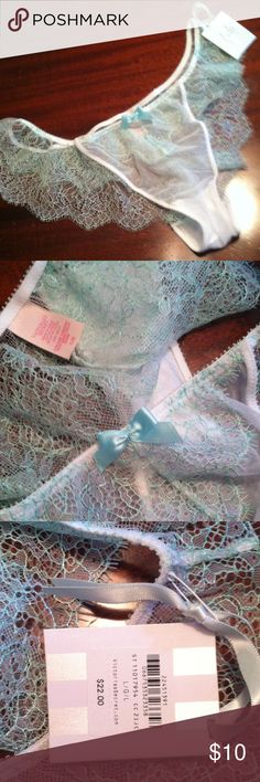 I Do sexy undies New tag $22 blue lace sz lg Victoria's Secret Intimates & Sleepwear