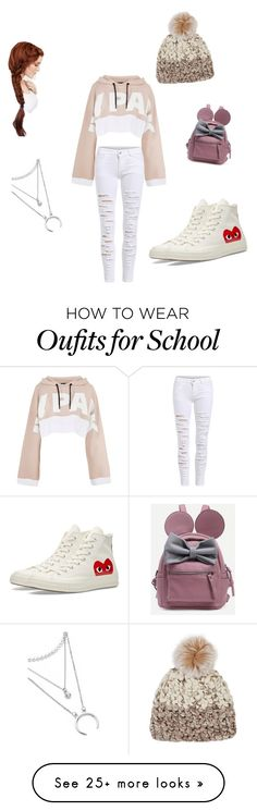 """""""Comfortable Day At School"""" by lovablegirl1999 on Polyvore featuring Ivy Park, Converse and Mischa Lampert"""