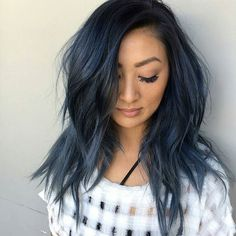 SEAMLESS LAYER || cut by @richiemiao | color melting midnight blue by @jamiekeikohair