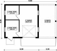 Projekt garażu G239 - Budynek garażowo - gospodarczy 56,5 m2 - koszt budowy - EXTRADOM Floor Plans, House, Home, Homes, Floor Plan Drawing, Houses, House Floor Plans