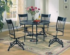Dining Chairs With Wheels | Chairs Design Ideas
