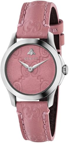 YA126578 Gucci G-Timeless Pink Dial Women s Watch - Steel Case and Pink  Leather Strap d920586e72ce