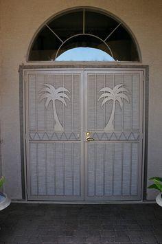 Decorative Security Screen Doors floridian screen door inserts | vintage screen door grill-art deco