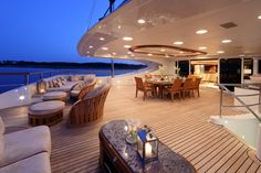 Jaguar Yacht ...   Luxury Accommodations  This luxurious yacht features an outstanding sundeck fitted with swimming pool, bar, jacuzzi & spacious dining & relaxation areas.