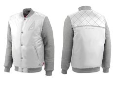 Wholesale Royce Winger White And Grey Baseball Jacket Suppliers