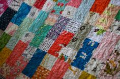 Just looking at this quilt makes me want to pull out my scraps and start sewing!  They are so satisfying.  I started this quilt this past...