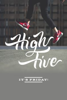High Five - It's Friday!! #handlettering